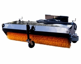 Angled broom sweeper